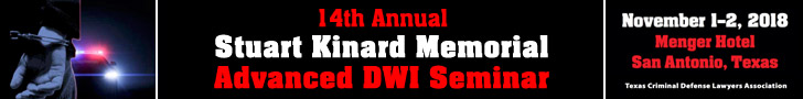 Stuart Kinard Memorial Advanced DWI Seminar